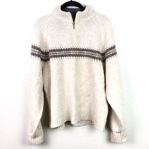 Woolrich Mock Turtleneck 100% Lambswool Sweater